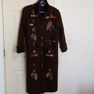Coloratura Artifact southwest fullLength Wool Coat